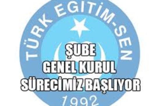 TÜRK EĞİTİM-SEN ARTVİN ŞUBESİ 5. GENEL KURUL İLANI