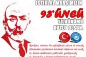 İSTİKLAL MARŞIMIZIN 93'ÜNCÜ YILDÖNÜMÜ KUTLU OLSUN.