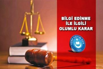 Bilgi Edinme Talebimizin Reddine Yargıdan Tokat Gibi Cevap…